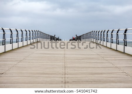 Saltburn Pier, Saltburn-by-the-Sea, Redcar and Cleveland, UK #541041742