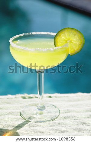 Salted Margarita by the Pool