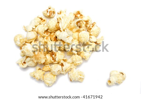 salted pop corn background, texture, isolated