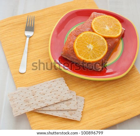 Salted salmon with orange