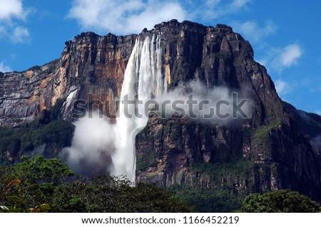Salto Angel- Venezuela Foto stock ©