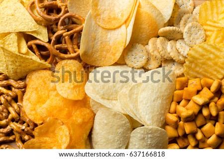 salty snacks. pretzels  chips ...