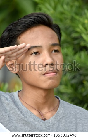 Saluting Good Looking Boy