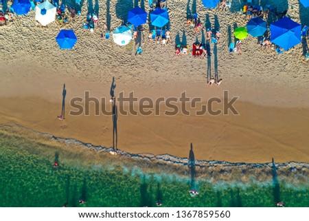 SALVADOR, BAHIA, BRAZIL - MAR 26, 2019: Aerial View of Porto da Barra Beach #1367859560