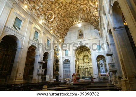 SALVADOR, BRAZIL - AUGUST 1: The altar area is shown in the Museu da Catedral in the Pelourinho area August 1, 2005 of Salvador, Brazil. Salvador is the capital of the Brazilian state of Bahia.