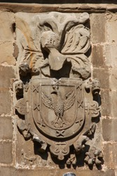 Salvador family stone escutcheon in Spain