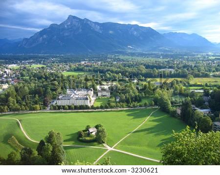 Salzburg province viewed from the Hohensalzburg Fortress, Austria