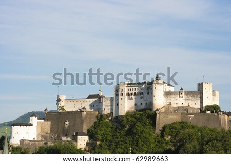 Salzburg seen from the Moenchsberg on a spring day