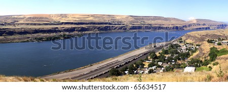 Sam Hill memorial bridge & Biggs OR.junction from Washington state.