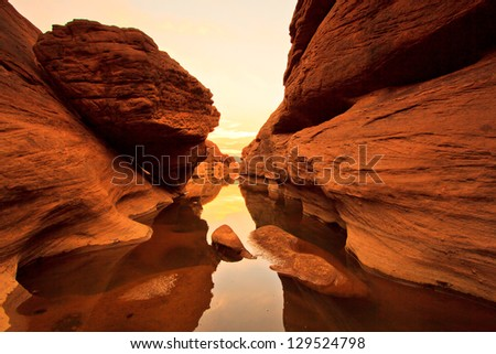 Sam pan bok grand canyon ubon ratchathani thailand stock photo