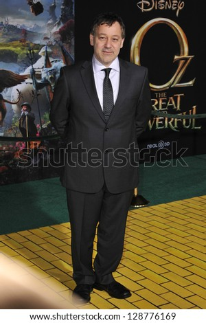 """Sam Raimi at the world premiere of his movie """"Oz: The Great and Powerful"""" at the El Capitan Theatre, Hollywood. February 13, 2013  Los Angeles, CA Picture: Paul Smith"""