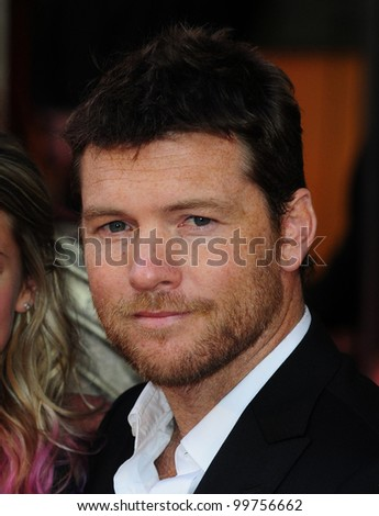 """Sam Worthington arrives for premiere of """"Wrath of the Titans"""" at the IMAX Cinema, South Bank, London. 29/03/2012 Picture by: Simon Burchell / Featureflash"""