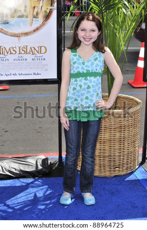 """Sammi Hanratty at the world premiere of """"Nim's Island"""" at Grauman's Chinese Theatre, Hollywood. March 30, 2008  Los Angeles, CA Picture: Paul Smith / Featureflash"""