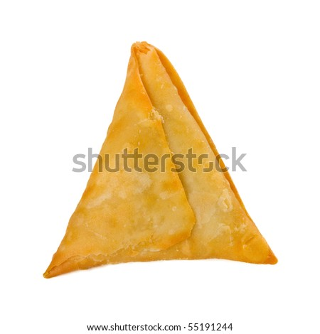 samosa isolated on white