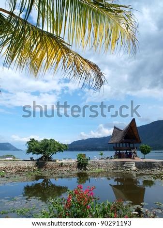 Samosir island and Lake Toba view