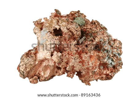 Sample copper on white background
