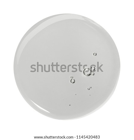 Sample of make up product, cosmetics smear or drop isolated on white