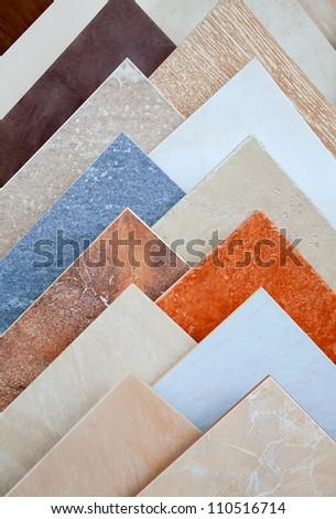 samples of a ceramic tile in shop stock photo 110516714