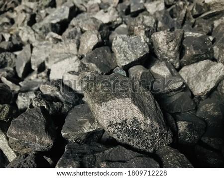 Samples of Ferro Silico Manganese Foto stock ©