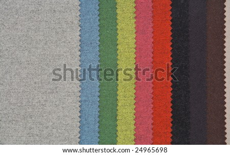Samples of wool fabric