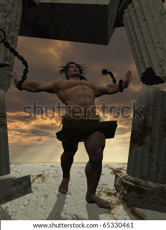 Samson bringing down the temple