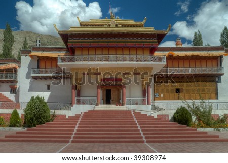 Samtaling Monastery, Nubra Valley, Ladakh, India - stock photo