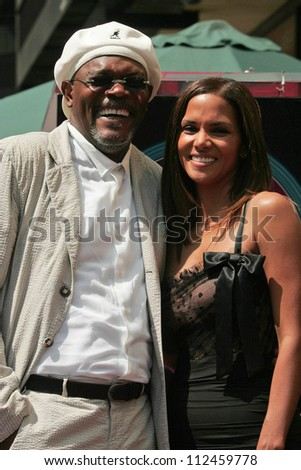 Samuel Jackson and Halle Berry at the ceremony honoring Halle Berry with the 2,333rd star on the Hollywood Walk of Fame. Hollywood Boulevard, Hollywood, CA. 04-03-07