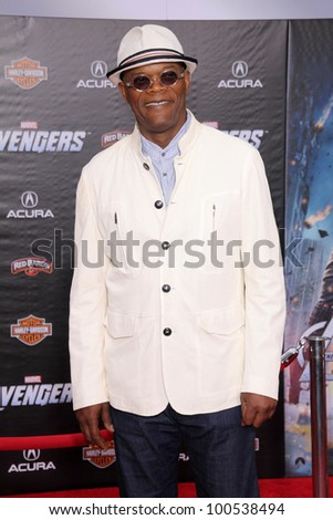 "Samuel L. Jackson at the ""Marvel's The Avengers"" Los Angeles Premiere, El Capitan Theatre, Hollywood, CA 04-11-12"