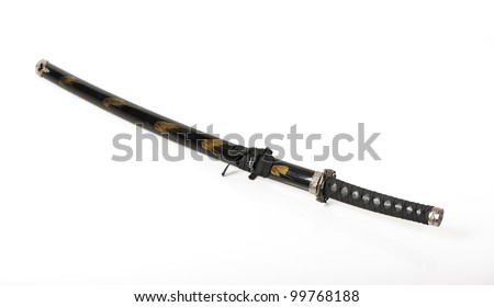 Samurai sword isolated on white background