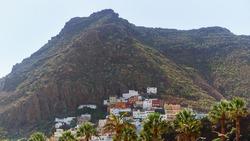 San Andres near beach Las Teresitas in Santa cruz de Tenerife north, mountain town near the beach of Teresitas in Tenerife Canary Islands, spain