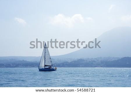 San Antonio Cape sailing sailboat in Denia Alicante Spain