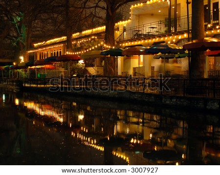 San Antonio's Famous Riverwalk - stock photo