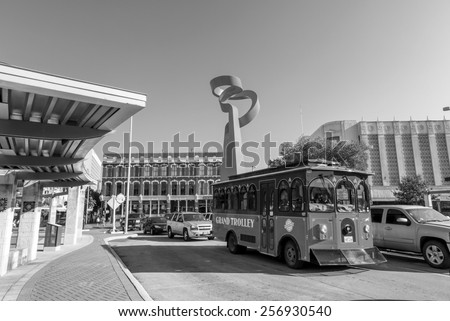 SAN ANTONIO, TEXAS, USA - SEP 27: Downtown of San Antonio, Texas on September 27, 2014 It was the fastest growing of the top 10 largest cities in the United States from 2000 to 2010