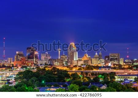 San Antonio, Texas, USA skyline. #422786095