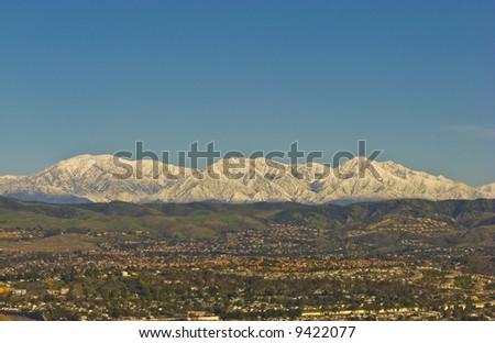 San Bernardino Mountains with Snow during Winter