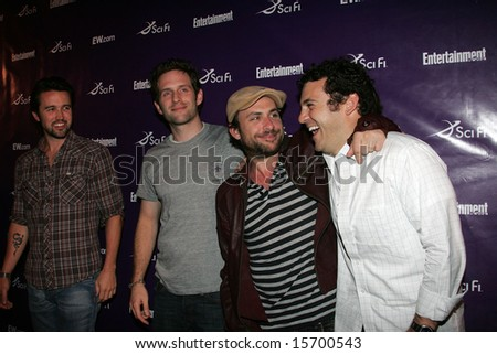 SAN DIEGO, CA - July 26: Actors Rob McElhenney, Glenn Howerton, Charlie Day and Fred Savage attend the annual Comic Con SciFi Channel party hosted by Entertainment Weekly on 7/26/08 in San Diego, CA.