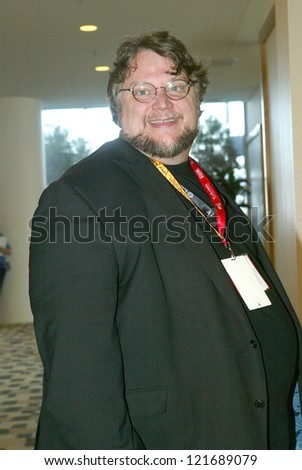 SAN DIEGO, CA - JULY 13: Director Guillermo del Toro arrives at the  2012 Comic Con convention press room at the Bayfront Hilton Hotel  on July 13, 2012 in San Diego, CA.