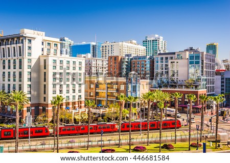 San Diego, California cityscape at the Gaslamp Quarter. #446681584