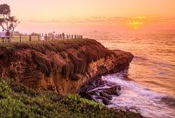San Diego California, La Jolla Cove Sunset, USA