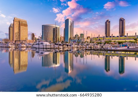 San Diego, California, USA downtown city skyline. #664935280