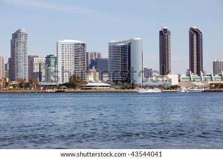 San Diego downtown, view from Coronado Island
