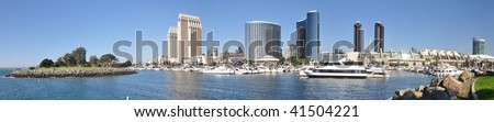 San Diego Marina and Downtown Panorama