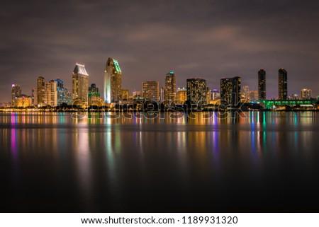 San Diego Skyline at Night #1189931320