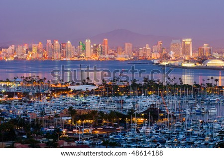 San Diego skyline at night