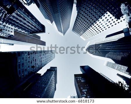 San Diego skyscrapers - stock photo