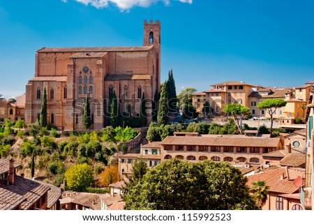 San Domenico church, Siena, Italy