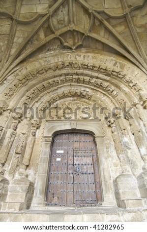 San Esteban church in Sos del Rey Catolico, Saragossa, Spain