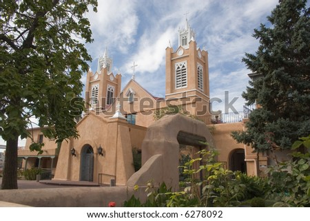 San Felipe de Neri Church in Albuquerque, New Mexico - stock photo