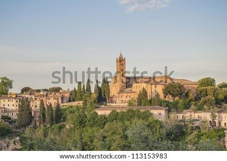 San Francesco, a basilica church in Siena, Tuscany, Italy.