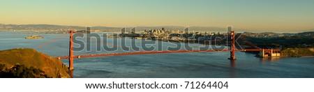 San Francisco and the Golden Gate Bridge in San Francisco, California